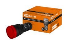 Лампа AD-16DS(LED)матрица d16мм красный 230В АС TDM