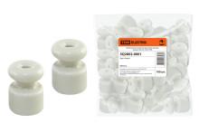 Керамический изолятор для ретро провода белый (100шт)