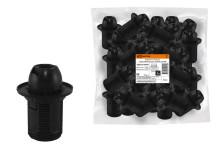Патрон Е14 с кольцом, термостойкий пластик, черный, Б/Н TDM