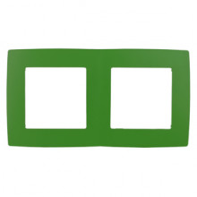 12-5002-27  ЭРА Рамка на 2 поста, Эра12, зелёный