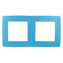 12-5002-28  ЭРА Рамка на 2 поста, Эра12, голубой