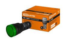 Лампа AD-16DS(LED)матрица d16мм зеленый 36В AC/DC TDM
