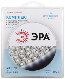 Комплект светодиодной ленты ЭРА 2835kit-4,8-60-12-IP20-6500-5m