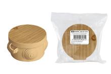 Распаячная коробка ОП D65х40мм, крышка, сосна, IP54, 4вх. инд. штрихкод TDM