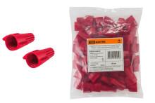 Соединительный изолирующий зажим СИЗ-Л-4 20 мм2 с лепестками красный (50 шт) TDM