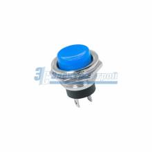 Выключатель-кнопка  металл 220V 2А (2с) (ON)-OFF  Ø16.2  синяя  REXANT