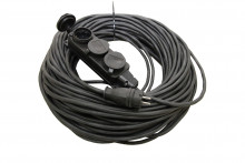 Удлинитель-шнур силовой каучук УШз16-103 IP44 3 гнезда с/з, 40м КГ 3х1,5 TDM