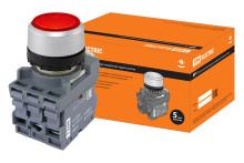Кнопка MP1-21R(LED) в сборе d22мм/220В 1з+1р красная TDM