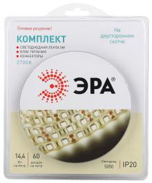 Комплект светодиодной ленты ЭРА 5050kit-14,4-60-12-IP20-2700-5m