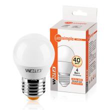 Лампа Led шар GL45 4Вт Е27 3000К