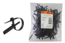 Хомут дюбельный ХД 7х150 черный (50шт) TDM