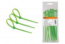Хомуты нейлоновые 4,8х300мм (зеленый) (25 штук) TDM