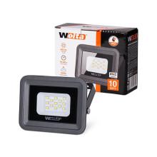 Светодиодный прожектор WFL-10W/06, 5500K, 10W SMD, IP 65, цвет серый, слим