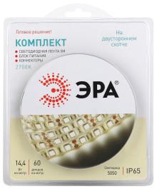 Комплект светодиодной ленты ЭРА 5050kit-14,4-60-12-IP65-2700-5m