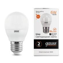 Лампа Gauss LED Elementary Globe 6W E27 3000K 1/10/100