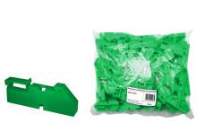 Изолятор на DIN рейку зелёный TDM