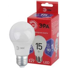 Лампы СВЕТОДИОДНЫЕ ЭКО LED A60-15W-865-E27 R  ЭРА (диод, груша, 15Вт, хол, E27)