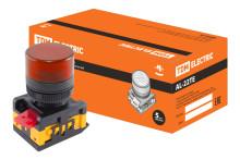 Лампа AL-22TE сигнальная d22мм красный неон/230В цилиндр TDM
