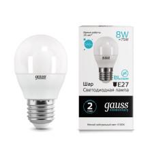 Лампа Gauss LED Elementary Globe 8W E27 4100K 1/10/100