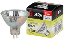Лампа галогенная GU5.3-JCDR (MR16) -50W-230V-CL  ЭРА (галоген, софит, 50Вт, нейтр, GU5.3)
