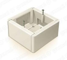 Коробка установочная универсальная 88*88*44 IP20 для наружного монтажа цвет белый
