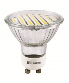 Лампа светодиодная PAR16-3 Вт-220 В -4000 К–GU 10 SMD TDM