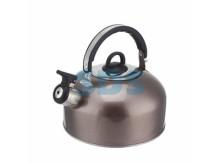 Чайник для плит 2,5 литра из пищевой нержавеющей стали со свистком  DUX