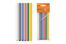 Клеевые стержни универсальные цветные, 11 мм x 100 мм, набор 6 шт,