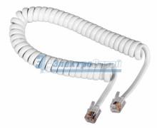 Шнур  витой  трубочный  2М  телефонный  белый  REXANT