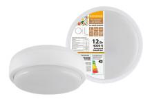 Светодиодный светильник LED ДПП 2901 12Вт 990 лм 4000К IP65 белый круг 160*48 мм Народный
