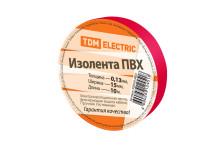 Изолента ПВХ 0,13*15мм Красная 10м TDM