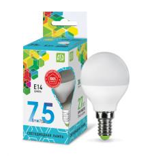 Лампа светодиодная LED-ШАР-standard 7.5Вт 230В Е14 4000К 675Лм ASD