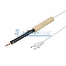Паяльник ПД 220В 65Вт деревянная ручка + ПРИПОЙ (блистер) REXANT