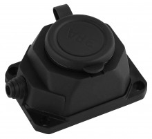 K-1e-B-IP44  ЭРА Колодка каучуковая с/з 1гн 16A IP44 черная