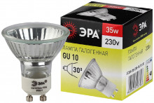 Лампа галогенная GU10-JCDR (MR16) -35W-230V  ЭРА (галоген, софит, 35Вт, нейтр, GU10)