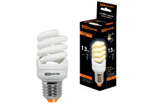 Лампа энергосберегающая КЛЛ-FSТ2-13 Вт-2700 К–Е27 КОМПАКТ (41х95 мм) TDM