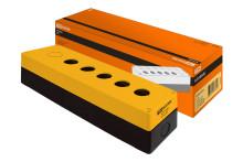 Корпус КП105(6) для кнопок 5(6) мест желтый TDM