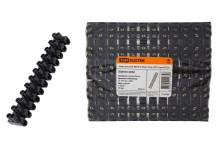 Зажим винтовой ЗВИ-80 полипропилен 6-25мм2 12пар 100°С черный TDM