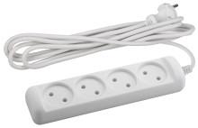 Удлинитель электрический ЭРА  U-4-3m-2x1 без заземления 4 розетки 3м ПВС 2x1мм2 10А