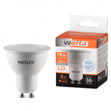 Лампа LED WOLTA PAR16  8Вт 700лм GU10 4000К   1/50