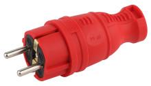 V8-RED-IP44 ЭРА Вилка каучуковая с/з прямая 16A IP44 красная