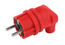 V9-RED-IP44 ЭРА Вилка каучуковая с/з 90град с кольцом 16A IP44 красная