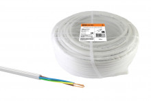 Провод ПВС 3х2,5 ГОСТ (100м), белый TDM