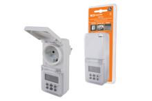 ТаймеррозеточныйТРЭ-02-1мин/7дн-10on/off-8А-IP44 (недельный, защита от влаги) TDM
