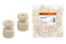 Керамический изолятор для ретро провода  «ЭКО» сосна (25шт) TDM