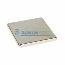 Неодимовый магнит прямоугольник 10х10х1 мм сцепление 0,6 кг (Упаковка 10 шт)