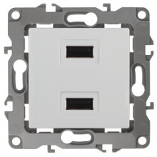 12-4110-01  ЭРА Устройство зарядное USB, 230В/5В-2100мА, IP20, Эра12, белый
