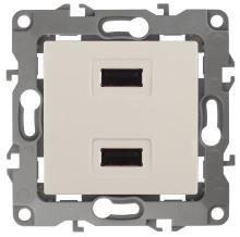 12-4110-02  ЭРА Устройство зарядное USB, 230В/5В-2100мА, IP20, Эра12, слоновая кость