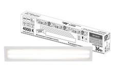 Светодиодная панель универсальная ЛП 03 180х1195 Опал 19 мм 36 Вт 2650 Лм, 4000 К, белая, Народная
