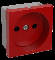 Розетка силовая 2к, 2 модуля (красная) РКС-20-22-П
